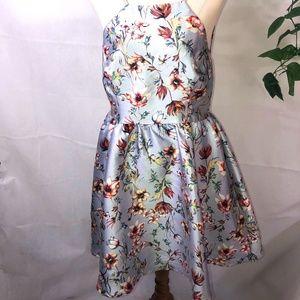 Dotti Size 12 Ladies Blue Pretty Floral Dress